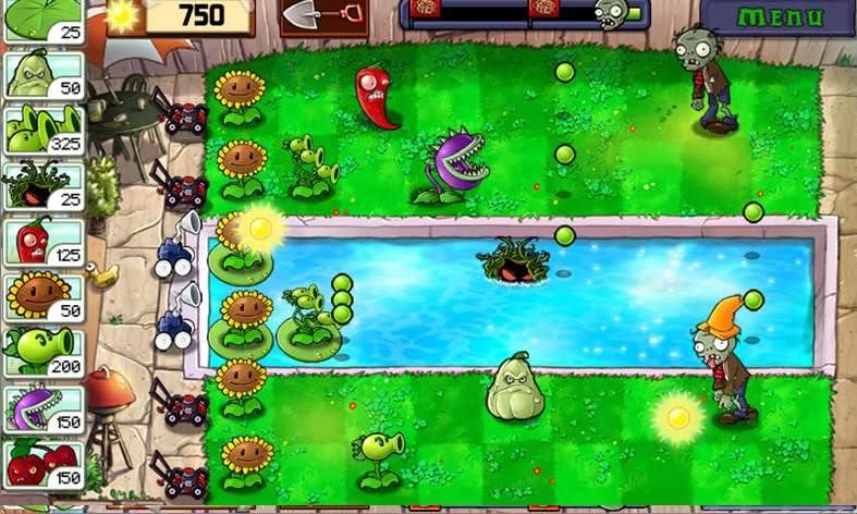Стратегия Plants vs. Zombies для Windows 10 Moble