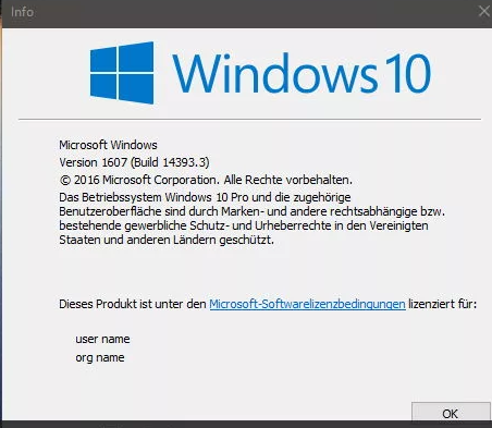 Windows 10 1607