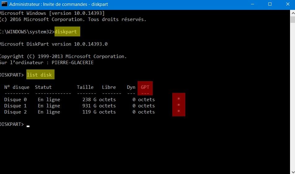 Windows 10 UEFI GPT
