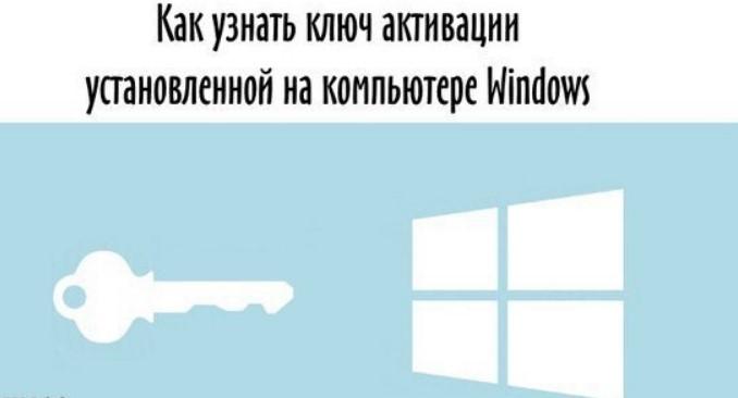 Как узнать ключ, установленной Windows