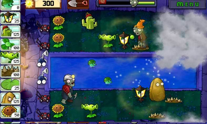 Стратегия Plants vs. Zombies для Windows 10 Moble