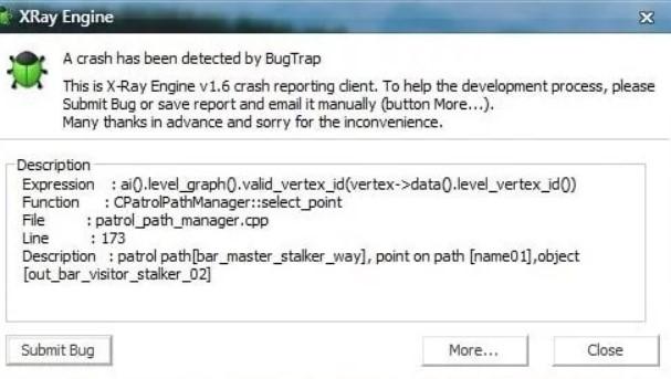 Как исправить ошибку XRay Engine в Сталкере