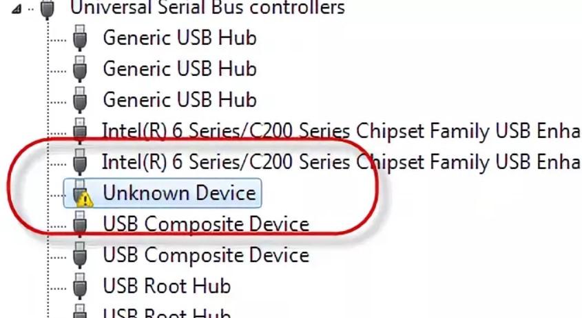 Unknown device — что это и как исправить