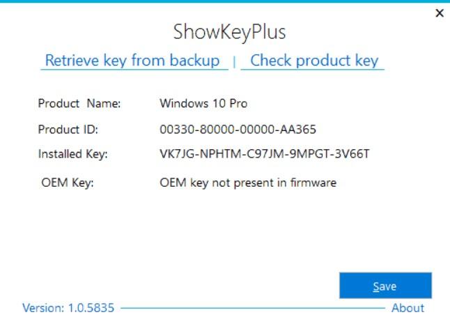 Как пользоваться ShowKeyPlus