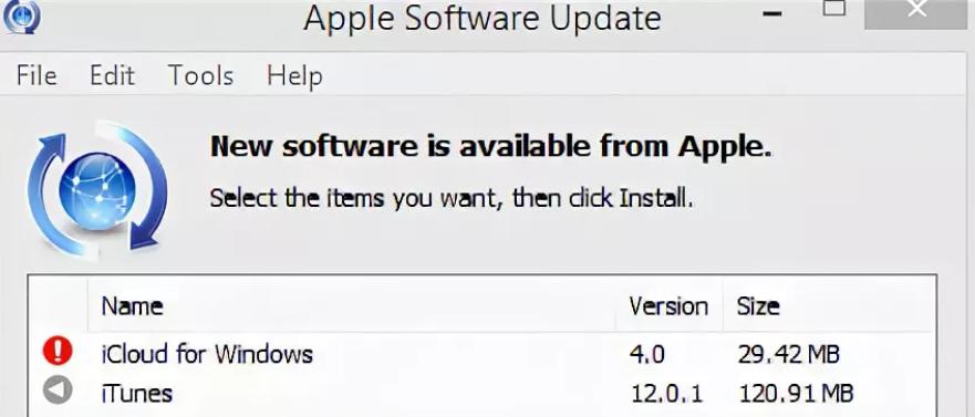 Что такое Apple software update