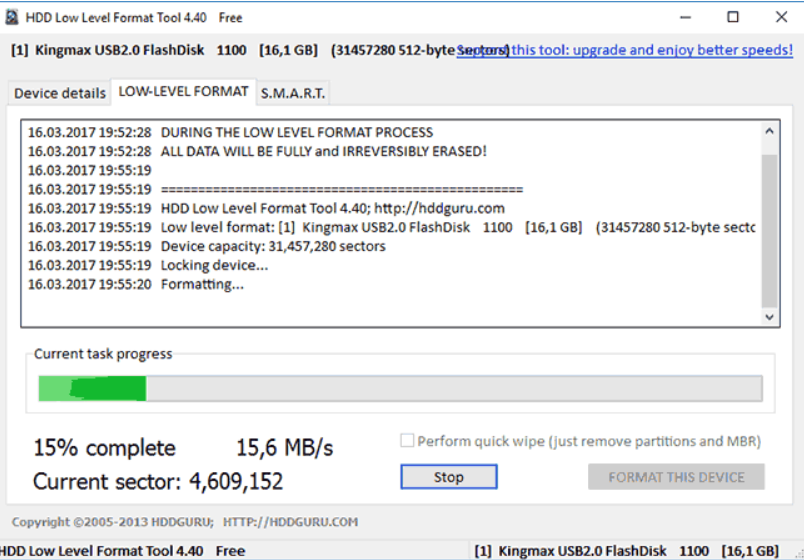 HDD Low Level Format Tool – программа для полного и низкоуровневого форматирования