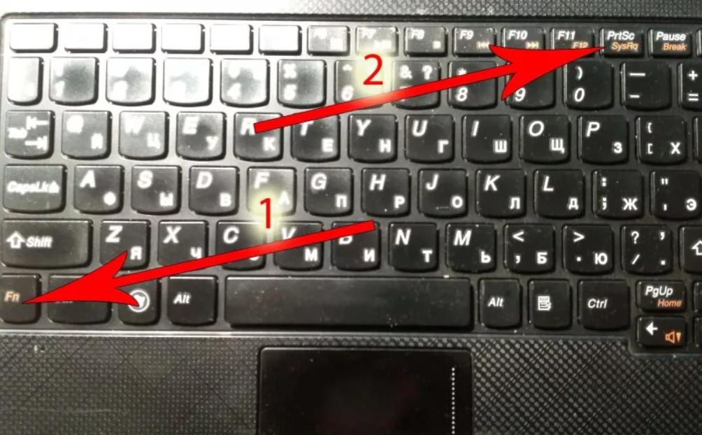Клавиатура с кнопкой Fn